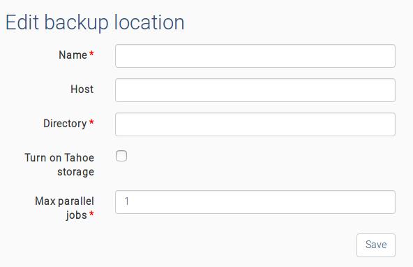 Backup storages · Elkarbackup Docs
